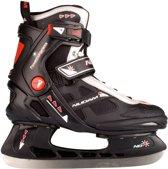 Nijdam 3353 Ijshockeyschaats - Semi-Softboot - Maat 41 - Zwart/Oranje