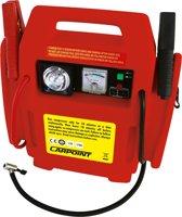 Carpoint Jumpstarter met Compressor zwart/rood