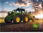 Traktor-John Deere-Metalen wandplaat-30-x40 cm