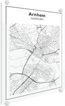 Stadskaart klein - Arnhem Plexiglas 30x40 cm - Plattegrond