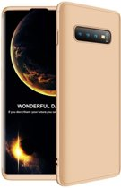 Teleplus Samsung Galaxy S10 Plus 360 Full Protection Hard Cover Case Gold