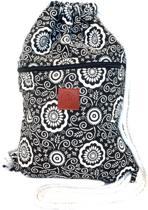 Rugtas Vorms   T-Bags   100% Katoen   14 Liter   Zwart & Wit   Comfortabel
