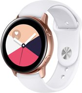 iCall Siliconen bandje - Samsung Galaxy Watch Active - Wit