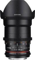 Samyang 35mm T1.5 Vdslr As Umc II - Prime lens - geschikt voor Canon Systeemcamera