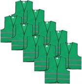 Veiligheidshesje - Veiligheidsvest - Volwassene - Groen - 10 stuks