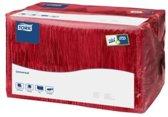 Tork tissue servet 33x33cm 1-laags 1/4-vouw burgundy 9x500