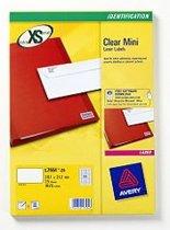 Avery L7551-25 Transparant printeretiket
