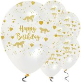 Ballonnen 'Happy Birthday' Unicorn - 6 stuks