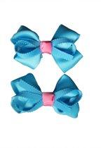Jessidress Set van Haarclip met Haar Strikje Meisjes Baretten - Blauw