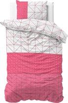 Sleeptime Gino - Dekbedovertrek - Eenpersoons - 140x200/220 + 1 kussensloop 60x70 - Roze