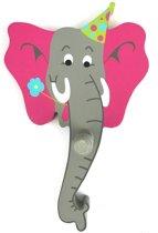 Kinderkapstokje olifant hout - kinderkapstok kinderen kinderkamer dieren -