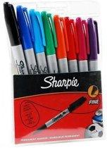 Sharpie - Viltstift Fine - Set van 8 stuks.
