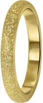 Lucardi - Stalen ring goldplated gediamanteerd