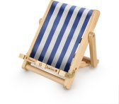 Deckchair Bookchair - Gestreept Blauw