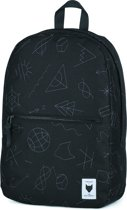 The Pack Society Commuter Backpack Rugzak - Black With Grey Embroidery