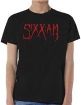 Sixx:A.M. - Logo heren unisex T-shirt zwart - M