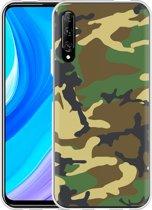 Huawei P Smart Pro Hoesje Army Camouflage Green