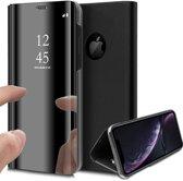 Spiegel Hoesje voor Apple iPhone Xr Lederen Wallet Book Case van iCall - Zwart