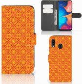 Samsung Galaxy A30 Telefoon Hoesje Batik Orange
