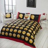 Smiley 1 persoons dekbedovertrek, Smileys / Emoji dekbed