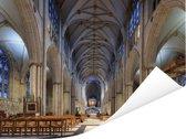 Het prachtige interieur van de Kathedraal York Minster Poster 160x120 cm - Foto print op Poster (wanddecoratie woonkamer / slaapkamer) XXL / Groot formaat!