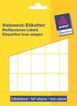 12x Avery Witte etiketten 32x23mm (bxh), 560 stuks