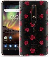 Nokia 6 2018 Hoesje Roses