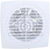 Ventilator, met timer, axiaal 125, wit, o.a. voor badkamer, toilet of keuken