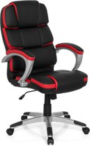 hjh office Gaming Pro By - Kunstleder - Zwart / rood