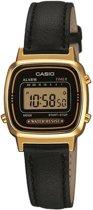 Casio LA670WEGL-1EF - Horloge - 24.6mm - Leer - Zwart