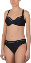 Badgoed Naturana-Beugel bikini-72360-Zwart/Wit-B38