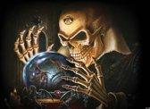 Fotobehang Alchemy Skull Tattoo | DEUR - 211cm x 90cm | 130g/m2 Vlies