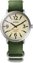 Bussora RetroPilot Classico Verde Militare - Horloge - Mannen - Leer - Groen - Ø 44 mm