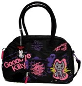 Bowlingtas Goodbey Kitty Zwart / hand /schoudertas
