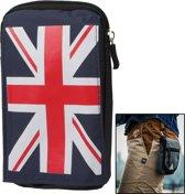 Multifunctionele Britse vlag opknoping Waist Bag met Carabiner haak (donkerblauw)