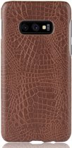 Mobigear Shockproof Krokodil Hoesje Bruin Samsung Galaxy S10e