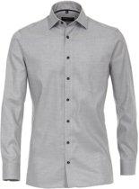 Casa Moda Overhemd Grijs Oxford Kent Modern Fit - 38