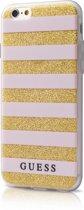 Guess TPU case Stripes - beige - voor Apple iPhone 6/6S