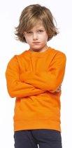 Oranje katoenmix sweater voor kinderen 6-8 jaar