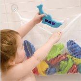 Hiden | Kinder Speelgoed Opslagzak - Organizer - Opberg net + extra grote zuignappen | Wit