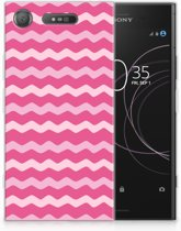Sony Xperia XZ1 Uniek TPU Hoesje Waves Pink