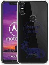 Motorola One Hoesje Life is too Short