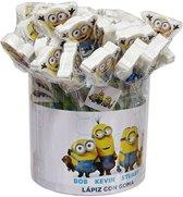 6 stuks minions potlood met gum