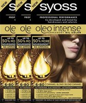 Syoss Oleo Intense 6.80 Caramel Blond Voordeelverpakking