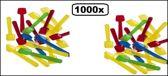 1000x IJslepeltjes assorti plastic