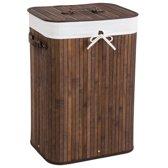 Bamboe wasmand incl. waszak 72L bruin 401835