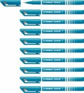STABILO SENSOR Fineliner 0,3 mm Turquoise - Doos 10 stuks