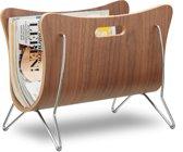 relaxdays Lectuurbak - tijdschriftenhouder - design - hout - krantenbak - bruin