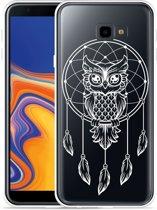 Galaxy J4 Plus Hoesje Dream Owl Mandala White