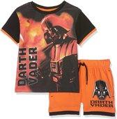Disney Star Wars - 2-delige Shortama-set - Darth Vader - Oranje / Zwart - 104 cm - 4 jaar